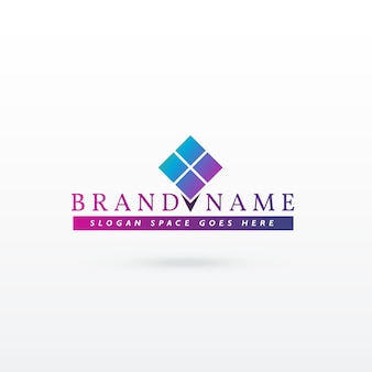 Logo de marque logo design vectoriel