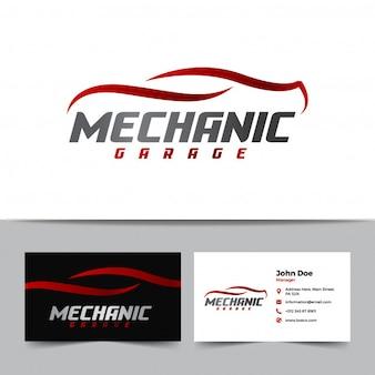 Logo de mécanicien et modèle de carte de visite