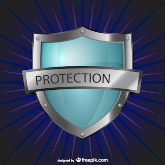 Logo de protection avec le bouclier