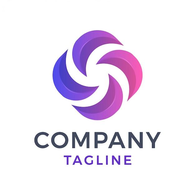 Logo dégradé abstrait
