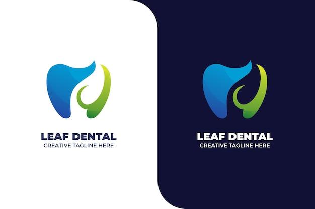 Logo de dégradé de clinique de dentiste nature