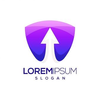 Logo dégradé coloré de flèche