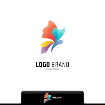 Logo dégradé coloré papillon