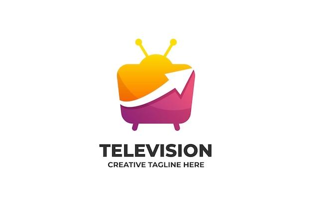 Logo de dégradé coloré de télévision
