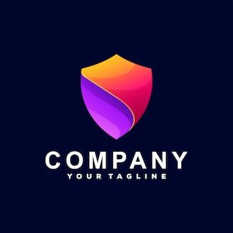 Logo dégradé de couleur bouclier