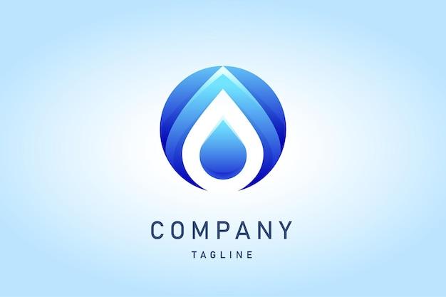 Logo dégradé d'eau bleu élégant