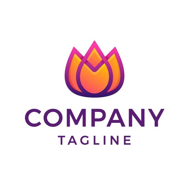 Logo dégradé de fleur de tulipe moderne