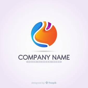 Logo dégradé avec forme abstraite