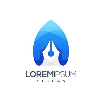 Logo dégradé d'inspiration colorée stylo