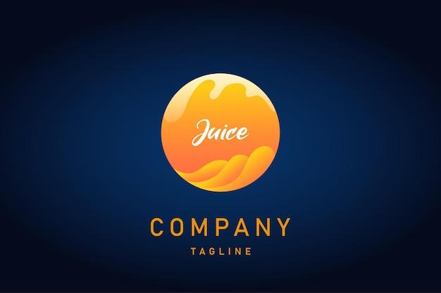 Logo dégradé de jus de fruits orange