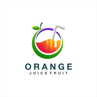 Logo dégradé de jus d'orange