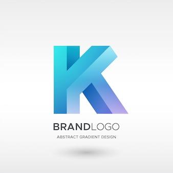 Logo de dégradé k