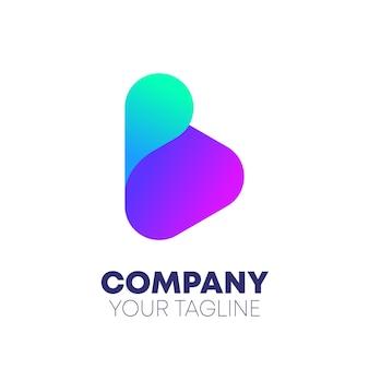 Logo de dégradé de lettre b