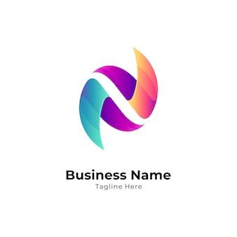 Logo dégradé de la lettre initiale n