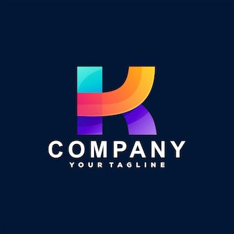 Logo dégradé lettre k