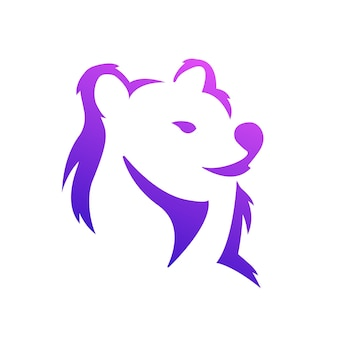Logo dégradé lion
