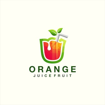 Logo dégradé orange de jus