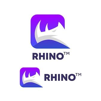 Logo dégradé rhinocéros