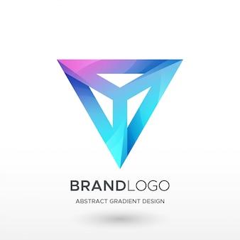 Logo de dégradé de triangle en v