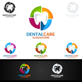 Logo dentaire, dentist stomatology logo