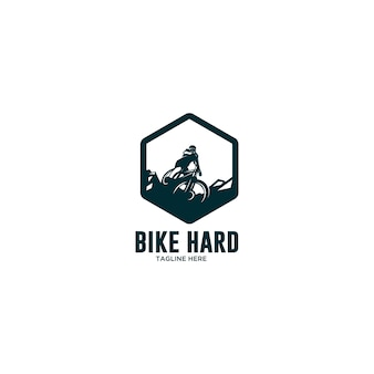 Logo de descente cycliste extrême