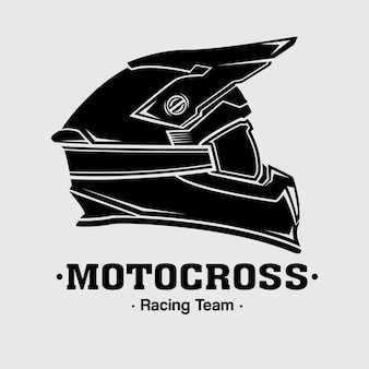Logo Design Casques Motocross Vecteur Premium