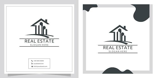 Logo de design immobilier noir