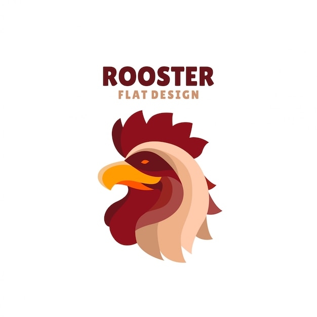 Logo design plat coq