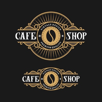 Logo design pour café, style vintage