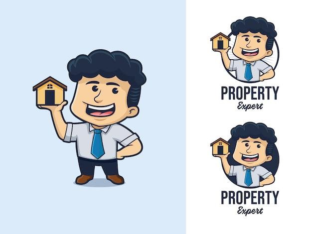 Logo de dessin animé d'architecte