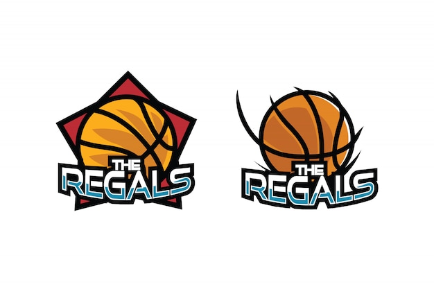 Logo de dessin animé de basket-ball