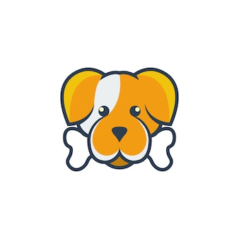 Logo de dessin animé de chien