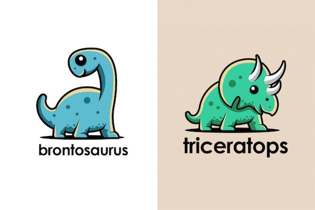 Logo de dessin animé de dinosaure