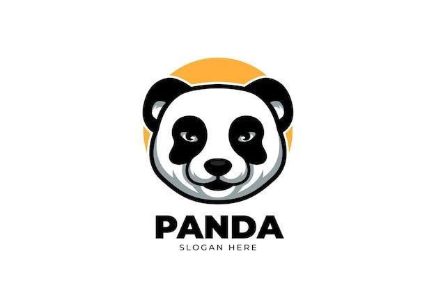 Logo de dessin animé mignon pour panda
