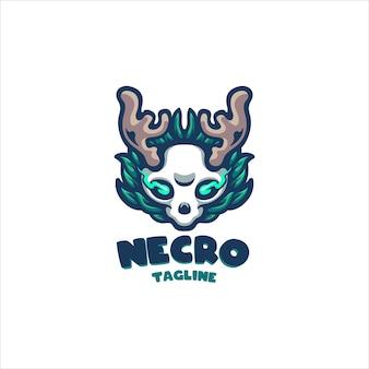 Logo de dessin animé de nécromancien pour votre entrepriselogo de dessin animé pour votre entreprise