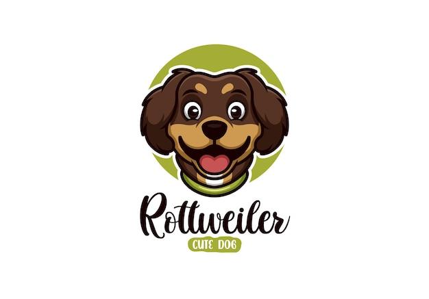 Logo de dessin animé pour chien avec concept créatif et élégant