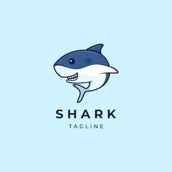 Logo de dessin animé de requin