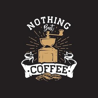Logo de dessin à la main de café rétro