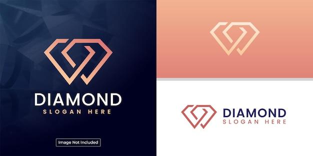 Logo diamant avec initiales cachées dd