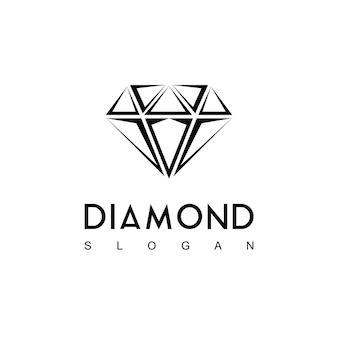 Logo de diamant vectoriel