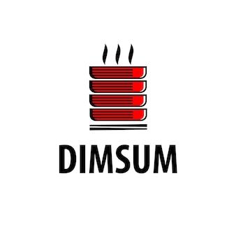 Logo dimsum de la nourriture chinoise