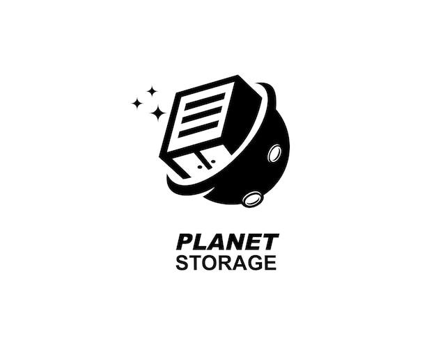 Logo de données de stockage planet