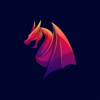 Logo dragon couleur moderne