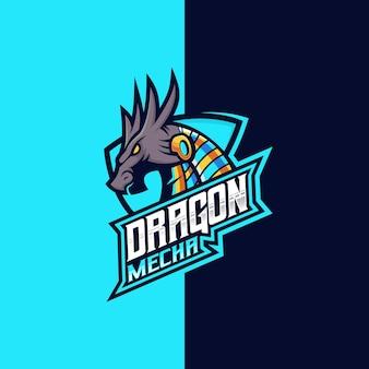 Logo dragon mecha esport et sport
