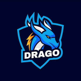 Logo dragon style de mascotte simple