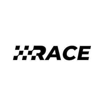 Logo de drapeau de course vectorielle