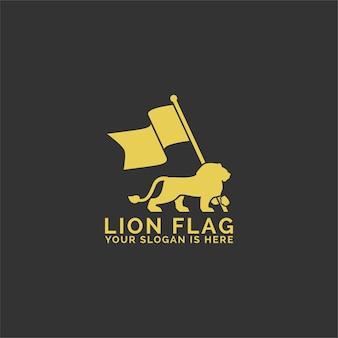 Logo de drapeau de lion