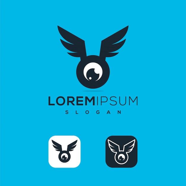Logo de drone abstrait