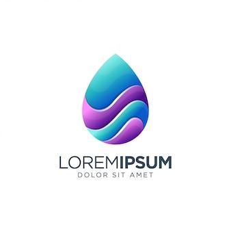 Logo drop water