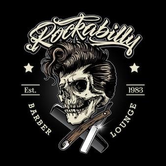 Logo du barbier rockabilly